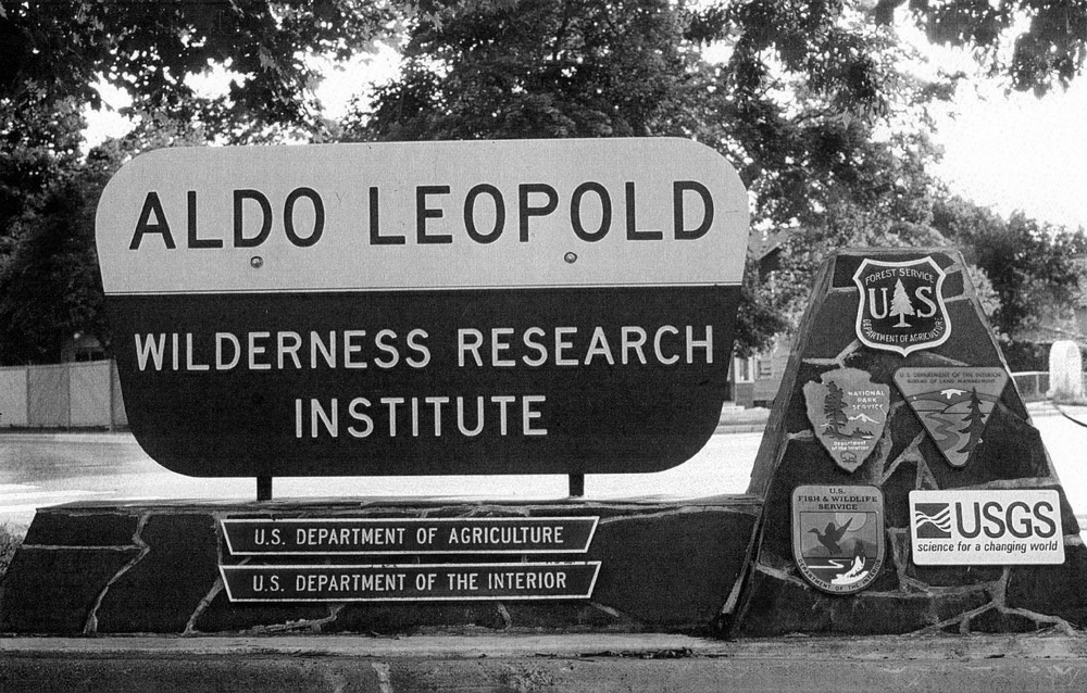 Aldo Leopold Wilderness Research Center sign