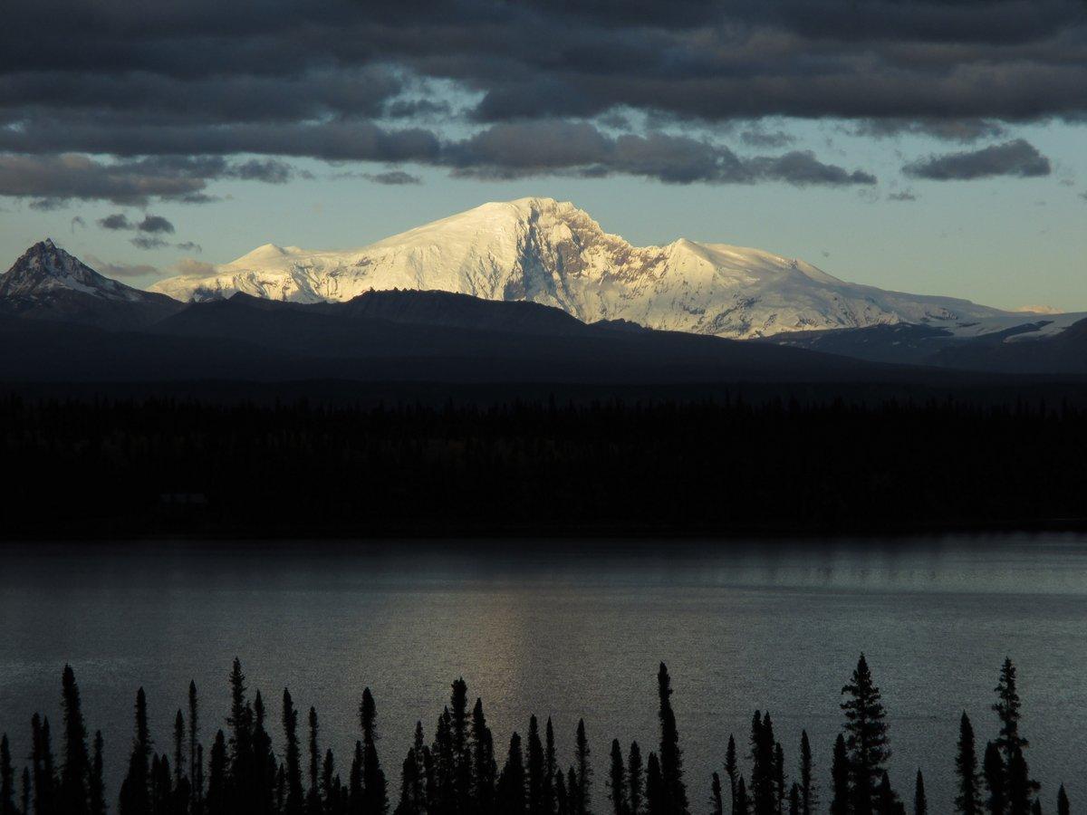 Looking east toward Wrangell St. Elias NP, in Alaska
